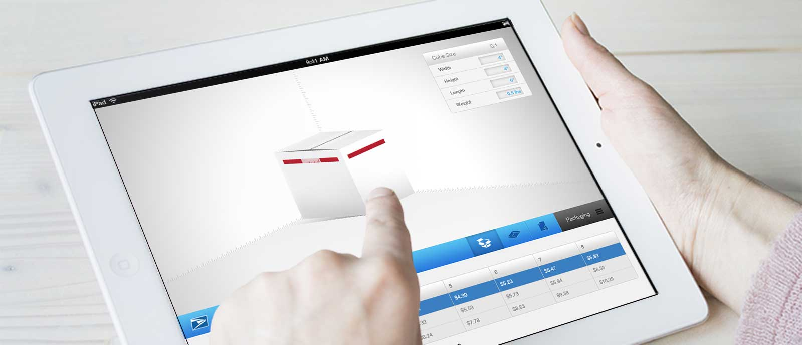 USPS Cubic Calculator for iPad